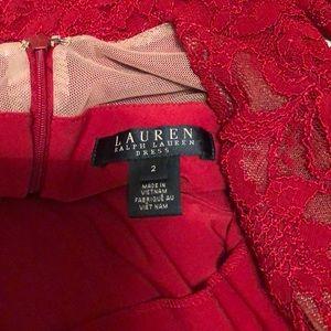Ralph Lauren Dresses - Red lace Ralph Lauren dress
